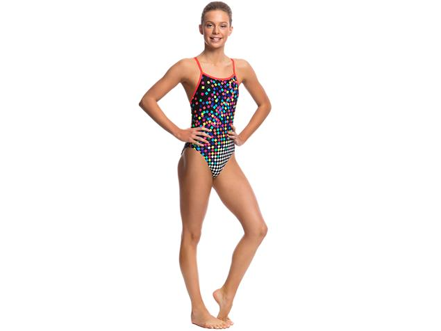 Funkita Scatter Brain Girls Badeanzug Single Strap - 140 (8)