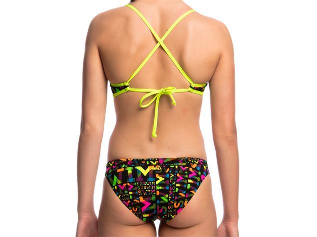 Funkita Night Swim Ladies Schwimmbikini Tie Down Top + Hipster Brief - 40 (14)