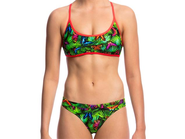 Funkita Pretty Fly Ladies Schwimmbikini Tie Down Top + Hipster Brief - 34 (8)