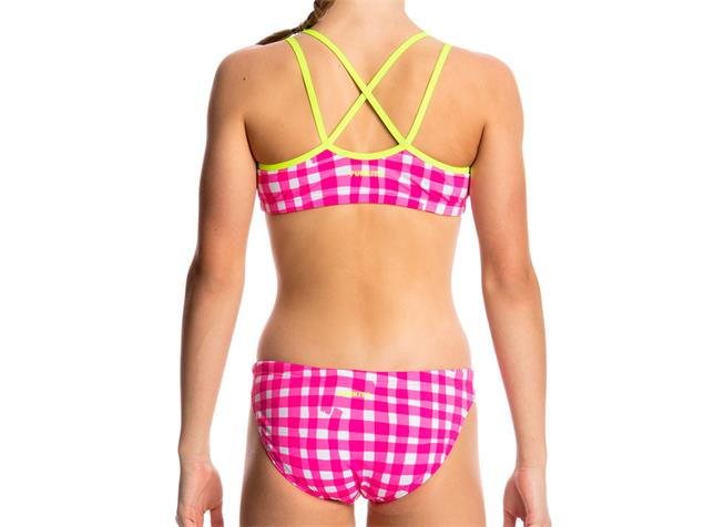 Funkita Check Me Out Girls Schwimmbikini Criss Cross Back - 140 (8)