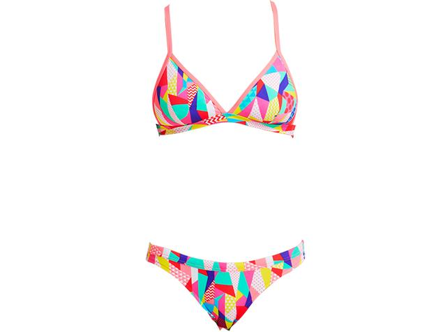 Funkita Pastel Patch Ladies Schwimmbikini Tri Top + Hipster Brief - 34 (8)