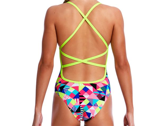 Funkita Purple Patch Girls Badeanzug Strapped In - 140 (8)