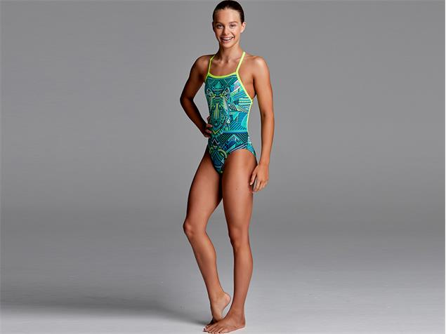 Funkita Wear Wolf Girls Badeanzug Strapped In - 140 (8)