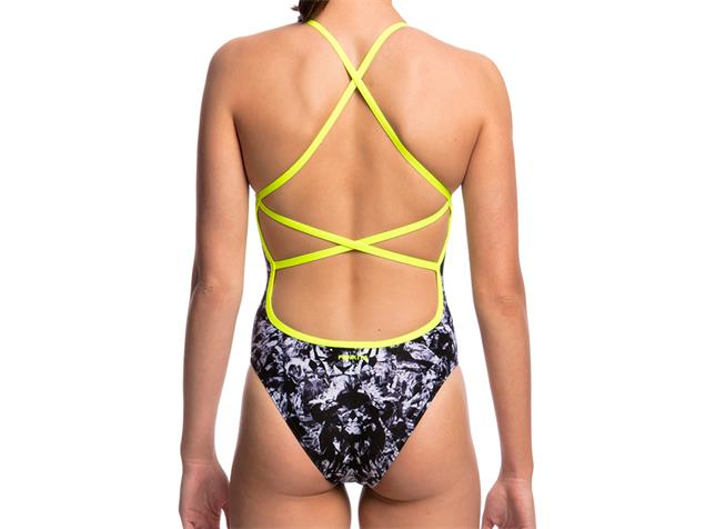 Funkita Midnight Assassin Ladies Badeanzug Strapped In - 38 (12)
