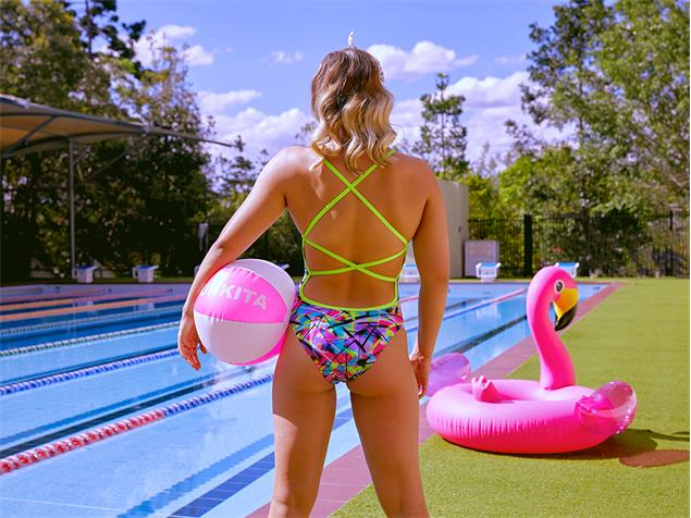 Funkita Spray On Ladies Badeanzug Strapped In - 36 (10)