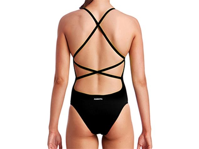 Funkita Still Black Solid Ladies Badeanzug Strapped In - 36 (10)