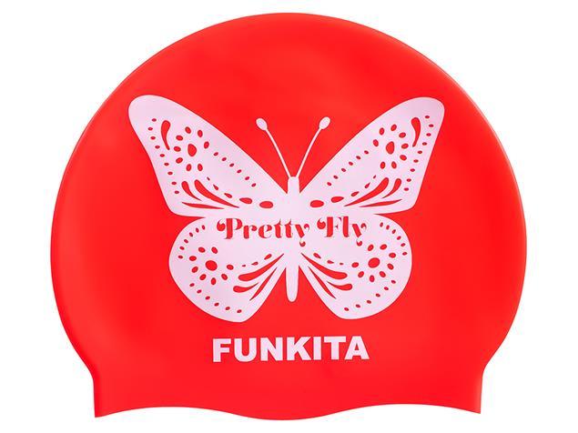 Funkita Preety Fly Pink Silikon Badekappe