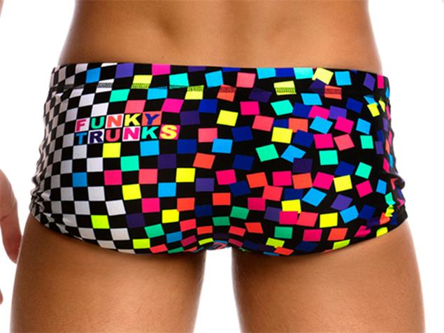 Funky Trunks Scatter Brain Men Badehose Plain Front Trunks - M