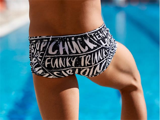 Funky Trunks iBeefed Men Badehose Plain Front Trunk - M