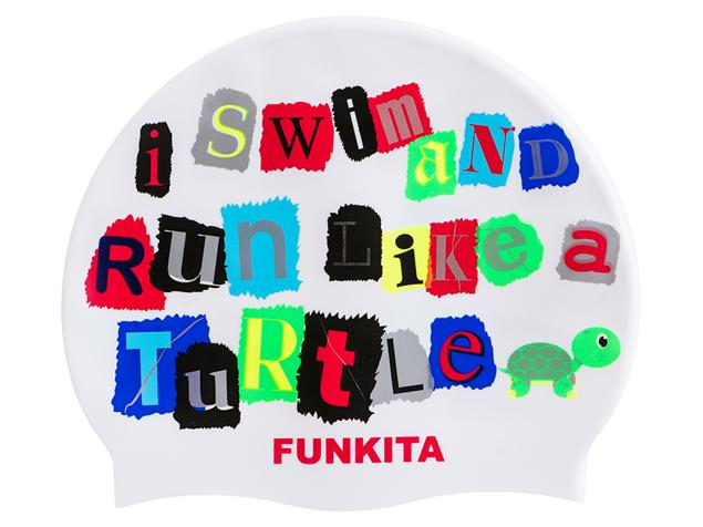 Funky Trunks Swim Turtle Run Silikon Badekappe
