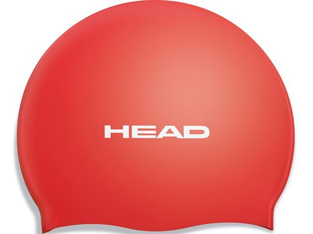 Head Flat Silikon Pearl Badekappe - red