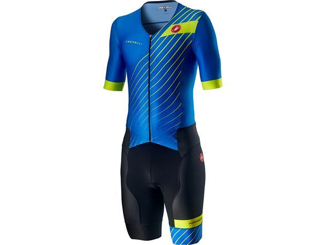 Castelli Free Sanremo Tri Suit Einteiler short sleeve SS - XXXL drive blue