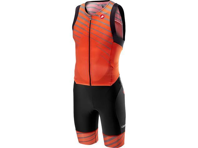 Castelli Free Sanremo Tri Suit Einteiler sleeveless - XL orange