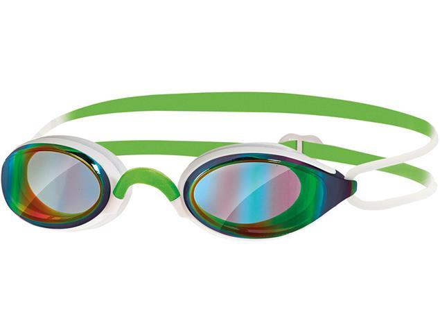 Zoggs Fusion Air Mirror Schwimmbrille white-green/mirror