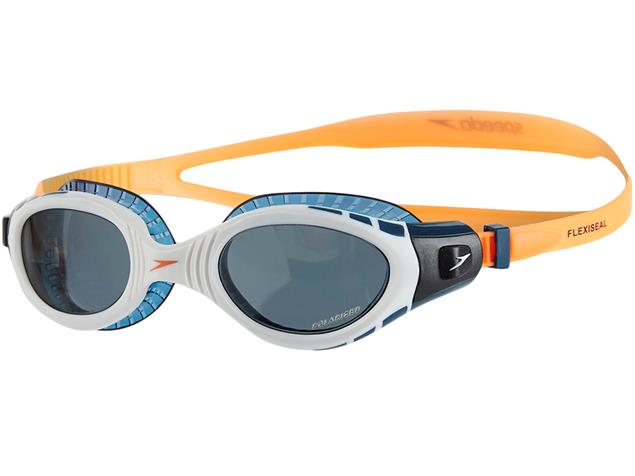 Speedo Futura Biofuse Flexiseal Triathlon Schwimmbrille - fluo orange-white/smoke
