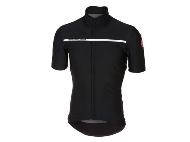 Castelli Gabba 3 Wind/Rain Jersey Trikot kurzarm - M light black