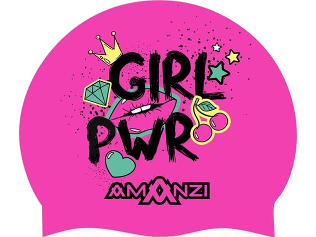 Amanzi Girl Power Silikon Badekappe