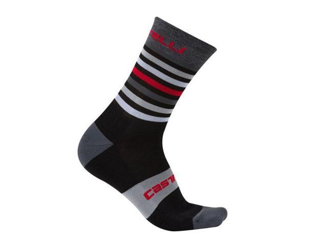 Castelli Gregge 15 Sock Wintersocken - L/XL black/red