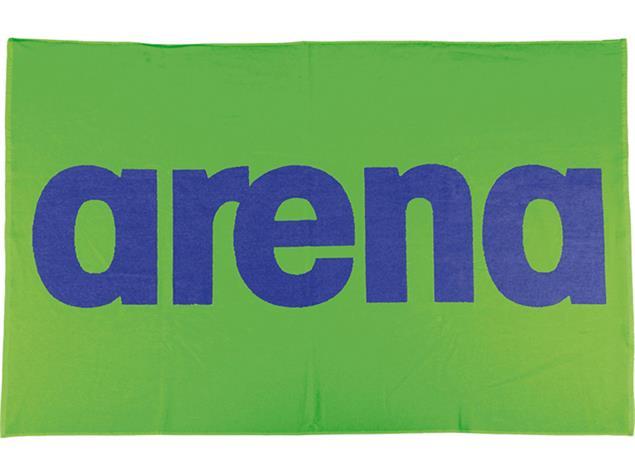 Arena Handy Baumwoll Handtuch 150x100 cm - leaf/danube blue