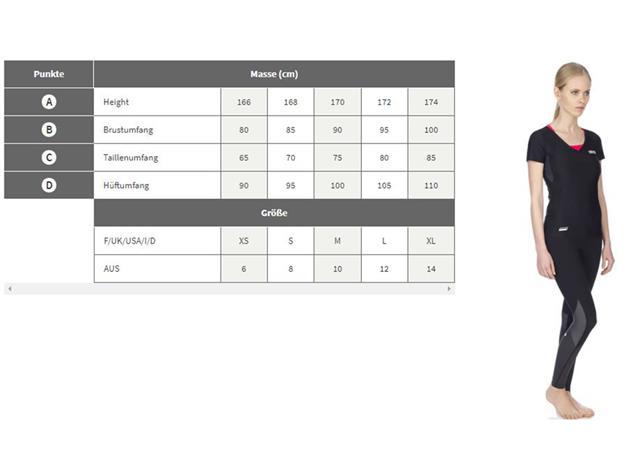Arena Damen Team Mizu T-Shirt - S white/black