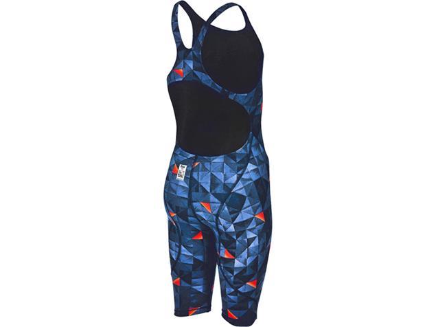 Arena Junior Girl Powerskin ST 2.0 Wettkampfanzug FBSL, Open Back Limited Edition 2017 - 140 turquoise/orange
