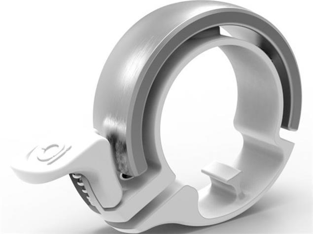 Knog Oi Classic small Klingel Alu 22,2 mm - silver/white mount