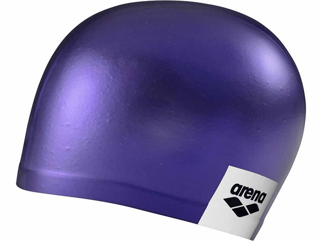 Arena Logo Moulded Silikon Badekappe - purple