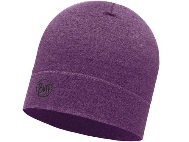 Buff Midweight Merino Wool Mütze - purple melange