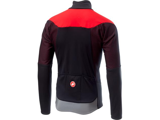 Castelli Mortirolo V Jacket Winterjacke - L black/red