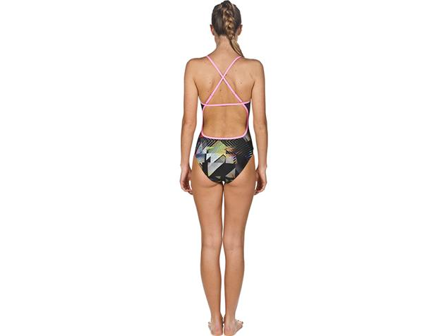 Arena Optical Badeanzug Swim Pro Back, High Cut - 42 multicolor/paparazzi