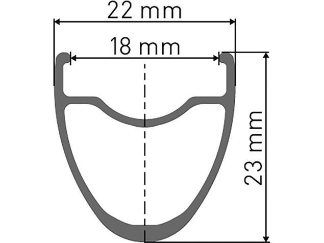 DT Swiss P 1800 Spline DB 23 mm Vorderrad 12/100 mm