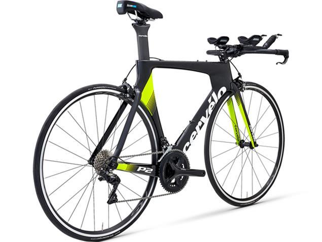 Cervelo P2 105 7000 Triathlonrad - 48 black/white/yellow