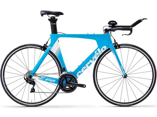 Cervelo P2 105 7000 Triathlonrad - 54 riviera/white/white