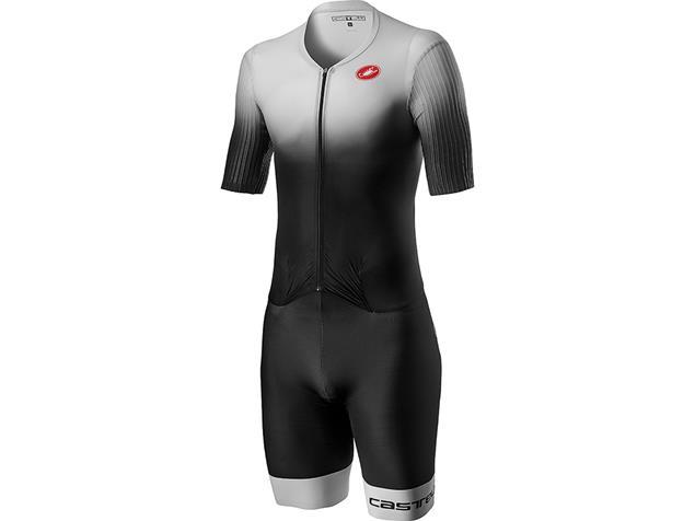 Castelli PR Speed Tri Suit Einteiler - M silver gray/black