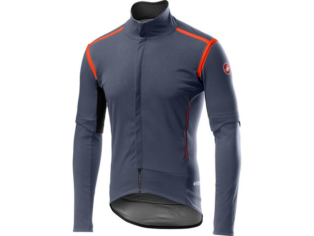 Castelli Perfetto Convertible Jacke - L dark steel blue