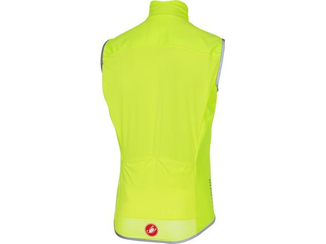 Castelli Perfetto Vest Wind/Regen Weste - L yellow fluo