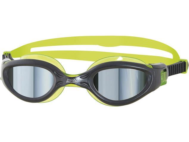 Zoggs Phantom Elite Mirror Junior Schwimmbrille - gun metal-green/mirror