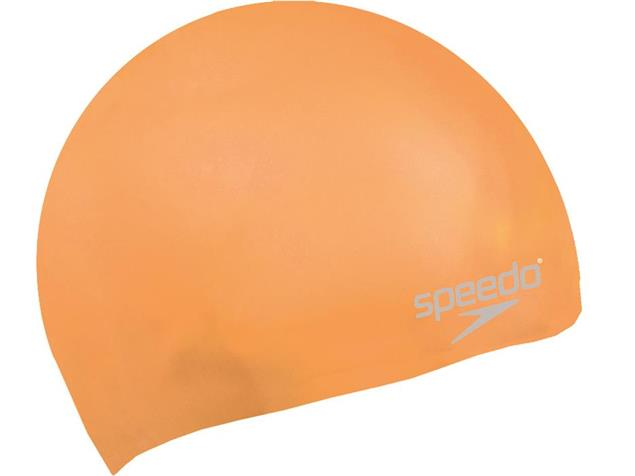 Speedo Plain Moulded Silikon Badekappe - orange