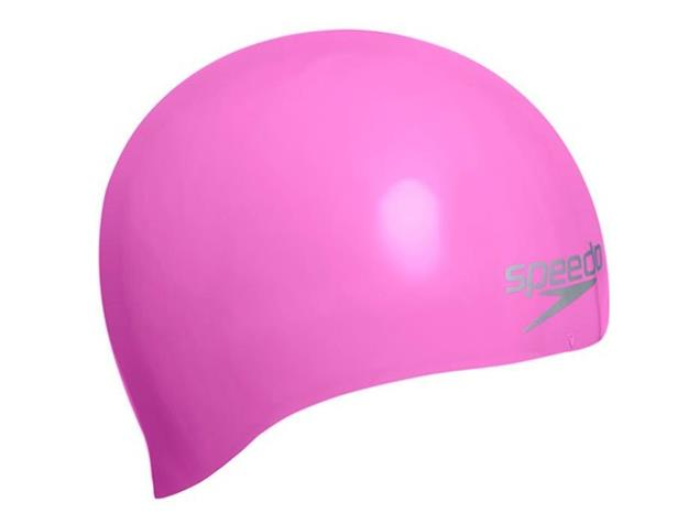 Speedo Plain Moulded Silikon Badekappe - pink