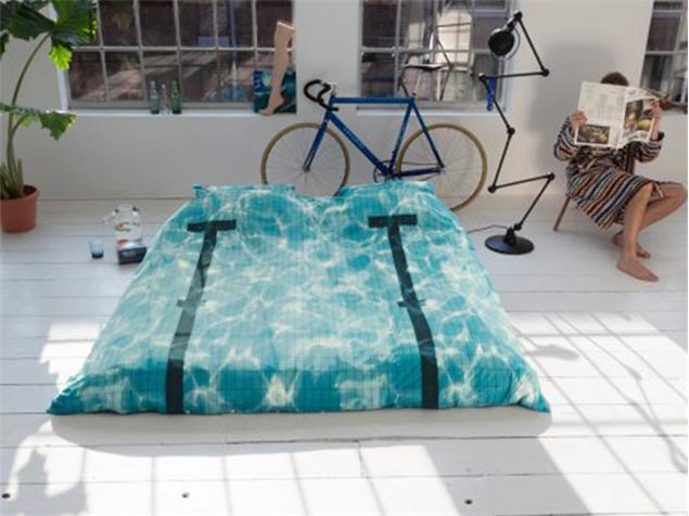 Snurk Pool Bettdecke 140 x 220 cm inkl. Kissenbezug 60 x 63 cm