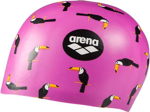 Arena Poolish Moulded Silikon Badekappe - toucan violet