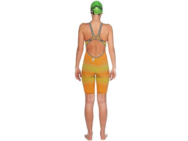Arena Powerskin Carbon Air² Wettkampfanzug FBSL, Open Back - 26 lime/orange