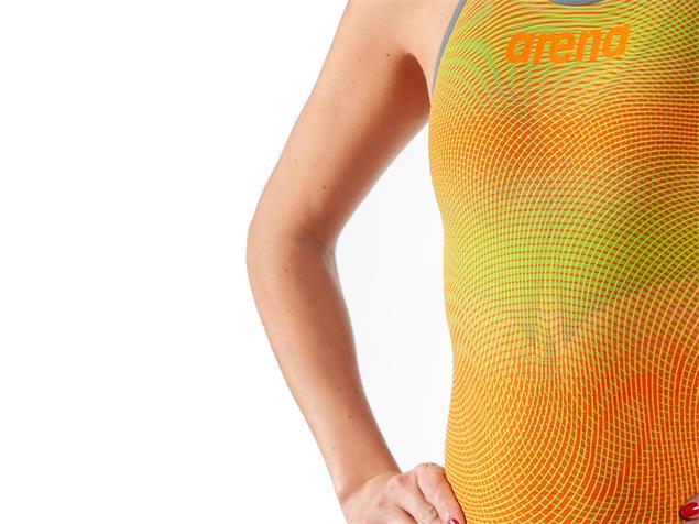 Arena Powerskin Carbon Air² Wettkampfanzug FBSL, Open Back - 26 lime/orange