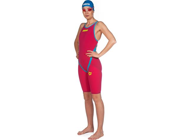 Arena Powerskin Carbon Flex VX Wettkampfanzug FBSL, Open Back - 26 bright red/turquoise