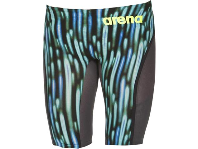 Arena Powerskin Carbon Ultra Jammer Wettkampfhose Limited Edition 2018 - 2 blue drops/fluo yellow