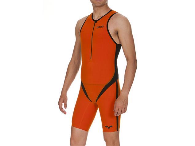 Arena Powerskin Carbon-Pro Trisuit Einteiler Multi Distance, Front Zipper - XS orange/black/orange