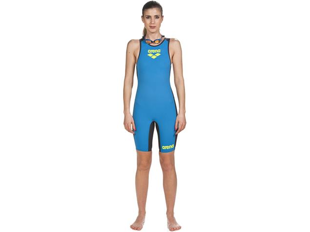 Arena Powerskin Trisuit Women Carbon Speedsuit Einteiler Rear Zipper - XS fast blue/grey