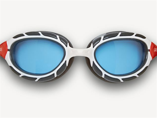 Zoggs Predator Schwimmbrille white-red/tinted blue - Small Fit