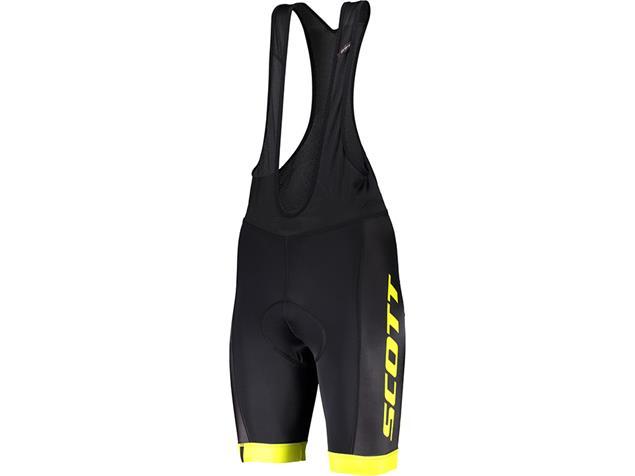 Scott RC Team Bibshorts Trägerhose kurz - M black/sulphur yellow