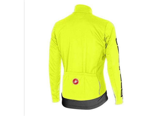 Castelli Raddoppia Jacke - M yellow fluo/reflex
